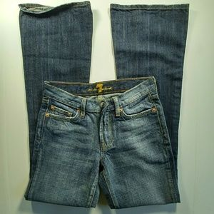 7 for all Mankind flare distressed jeans size 26